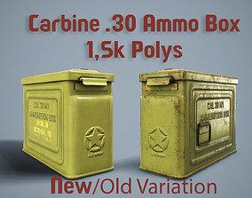 3D model 1942 US Ammo Box Carbine 30 PBR