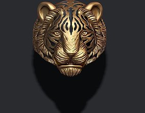 Tiger ring 3D printable model cat
