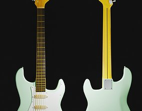 Electric Gutar Fender Stratocaster Realistic 3D Model