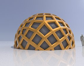 3D model Geodesic Dome Like structure with panels