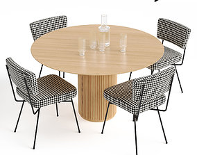 3D asset Elettra Chair and Palais Royal dining table