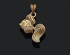 fish pendant wave 3D print model