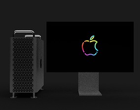 3D model Mac Pro and Pro Display XDR