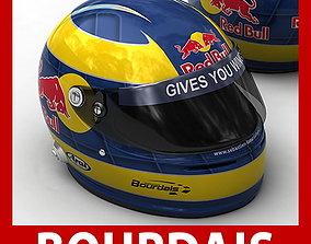 Helmet F1 2009 Sebastien Bourdais car 3D