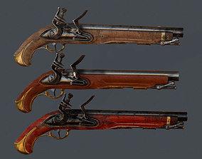 Old Pistol 3D model realtime