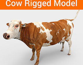 rigged 3D Cow Rigged cattle