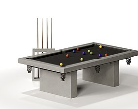 JAMES DE WULF Outdoor Billiard Table 3D