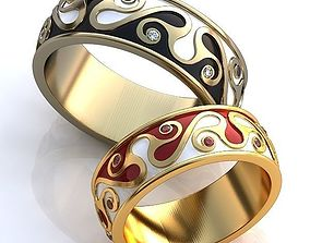 3D printable model Gold Metal Rings with Diamonds 307