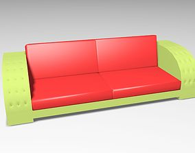 3D model Beautiful sofa