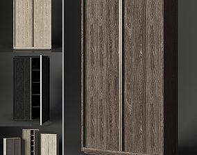 3D model BEZIER PANEL DOUBLE-DOOR CABINET