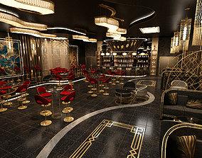 3D Luxury nightclub bar interior design