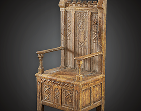 engine 3D asset realtime Chair - MVL - PBR Game Ready