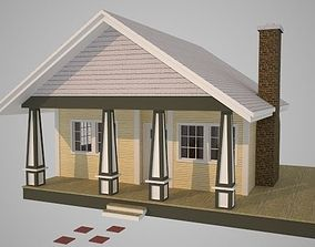 Cabin gutter 3D model