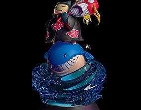 Snorlax - Pokemon - Naruto Diorama - STL - 3d Print