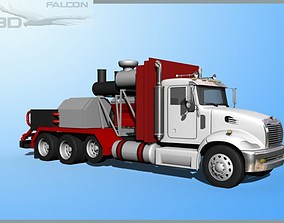 rigged Falcon3D Fracking Pumper Truck