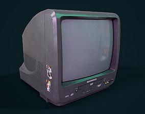 3D model realtime PBR Retro TV