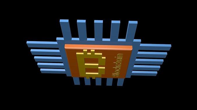 blockchain-3d-model-low-poly-obj-3ds-fbx