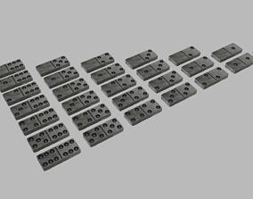 3D asset Metal Domino Set 28 Pieces