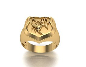 SCORPIO Ring zodiac isolated 3D printable model