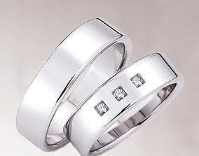 Wedding rings 208 3D printable model