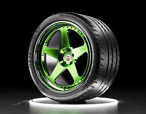 3D model Car wheel Michelin Pilot Sport Cup 2 tire with 3