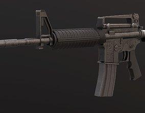 3D asset realtime m4a1 assault rifle