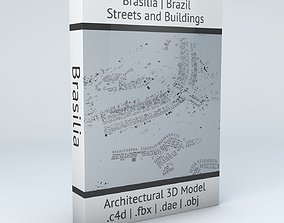 Brasilia Streets and Buildings 3D model