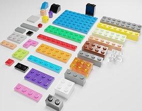 LEGO bricks collection - 35 pieces block 3D model