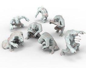Savage Cave Trolls camp for diorama 3D printable model