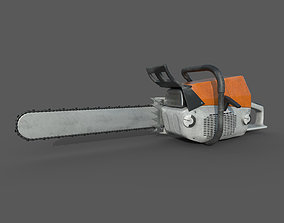 3D model Chainsaw - Lowpoly - PBR - Animated