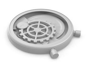 Mechanical Clock 3D model