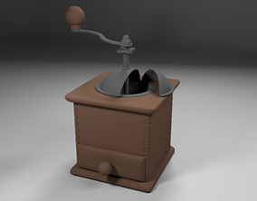 3D asset low-poly Coffee Grinder