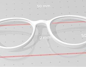 3D print model Eye-glasses front