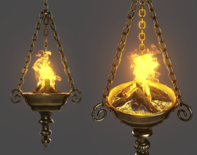3D asset Medieval Lighting Ceiling Brazier