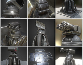 3D asset Futuristic Tower Collection