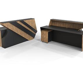 Office Furniture Set 3D asset game-ready