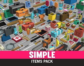 Simple Items - Cartoon Assets VR / AR ready