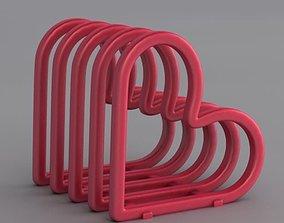 3D printable model Heart Toast Rack