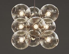 Lindsey Adelman - 9 globe bubbles chandelier 3D