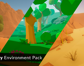 3D asset LowPoly Environment Pack