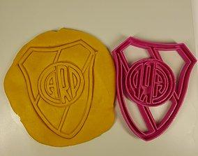 Cutter cookie River Plate soccer Cortante futbol 3D model