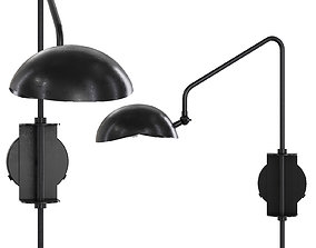 Restoration Hardware CONVESSI SCONCE 23 Black 3D model