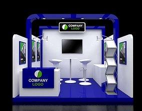 Booth Modern 3x3M 3D model