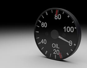 F16 Oil Pressure Gauge 3D
