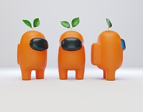 3D Among Us Plant Hat Character