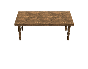 New and old wood table 3D model