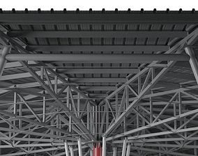 Metal roof construction 3D