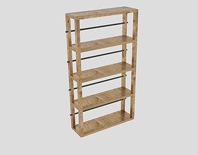 Ana White Reclaimed Wood Rolling Shelf 3D model