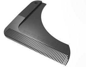 3D print model beard shaping comb