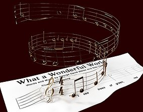 What a wonderful world - Louis Armstrong - Notes 3D
